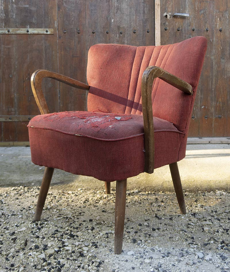 Fauteuil style Cabriolet Louis XV